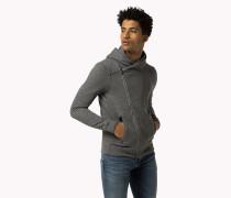 Baumwoll-kapuzenjacke Mit Reißverschluss