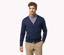 Regular Fit Cardigan Aus Baumwoll-seiden-mix