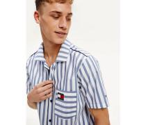 Kurzarm-Pyjama-Hemd aus Bio-Baumwollmix