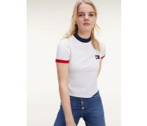 T-Shirt mit Kontrast-Kragen