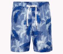 Palm Print Drawstring Swim Shorts