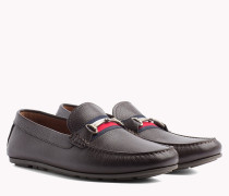 Leder-Loafer mit Tommy-Streifen