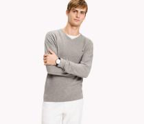 Strukturierter V-Pullover
