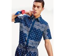 Comfort Fit Hemd mit Bandana-Print