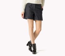 Twill-shorts Mit Bündchen