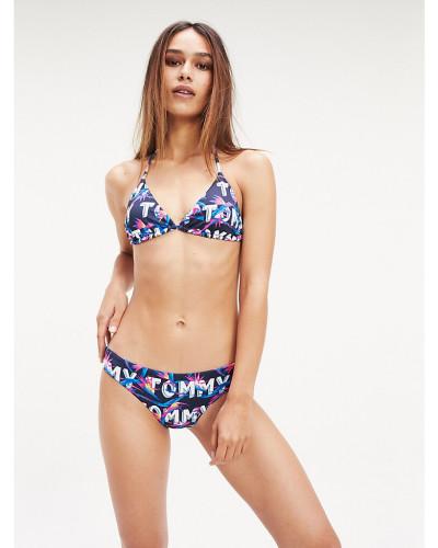 Bikinihose mit tropischem Print