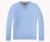 Pullover Mit V-ausschnitt Aus Baumwoll-mix