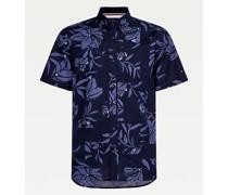 Kurzarm-Hemd mit Blumen-Print