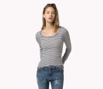 Gestreiftes Langarm-t-shirt
