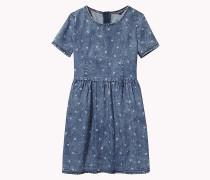 Denim-Kleid mit Print