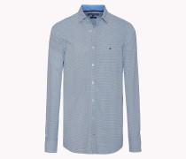Slim Fit Hemd aus Baumwoll-Popeline