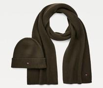 Beanie- und Schal-Set mit Pima-Baumwolle
