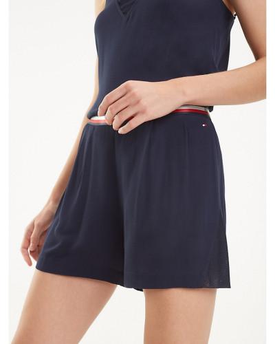 Krepp-Shorts mit Tommy-Streifen