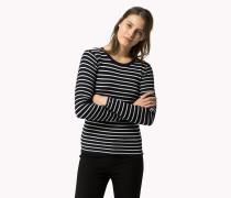 Gestreifter Sweater Aus Baumwolle
