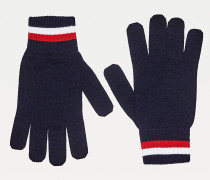 Feinstrick-Wollhandschuhe mit Branding