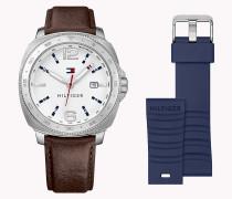 Uhr mit auswechselbarem Armband