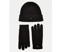 Beanie- und Handschuh-Set aus Pima-Baumwolle