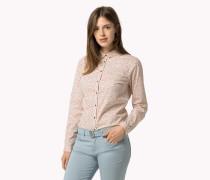 Tailliertes, Bedrucktes Baumwollhemd
