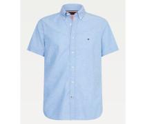 Kurzarm-Hemd aus Baumwoll-Leinenmix