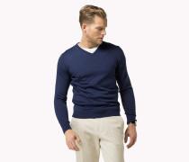 Luxury Wollpullover Mit V-ausschnitt