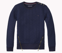 Gesteppter Sweater