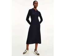 Midi-Kleid im Polo-Stil
