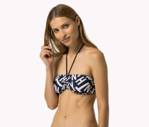 Bandeau-bikinioberteil Mit Print