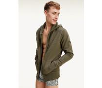 Hoodie-Jacke aus reiner Bio-Baumwolle