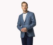 Taillierter Blazer aus Seiden-Leinen-Mix