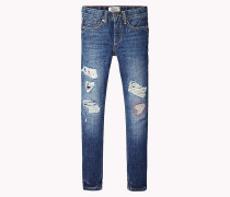 Slim Fit Distressed-Jeans