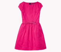 Kleid In A-linie Aus Baumwoll-jacquard