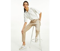 Relaxed Fit Halbarm-Poloshirt