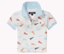Poloshirt Aus Baumwoll-stretch-piqué