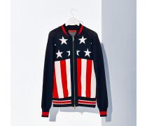 College-Jacke aus Baumwoll-Mix