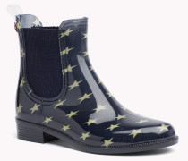 Ankle Boots Mit Sternen-print