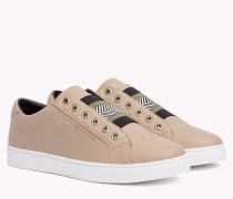 Leather Elasticated Trainers