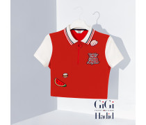 Gekürztes Gigi Hadid Poloshirt