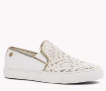 Slip-on Spitzen-sneakers Mit Blumenmuster