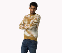 Rundhals-sweatshirt Aus Baumwolle