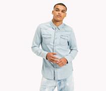 Regular Fit Hemd aus Denim
