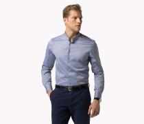 Slim Fit Hemd mit Mandarinkragen