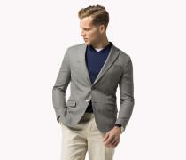 Slim Fit Blazer aus Baumwoll-Mix