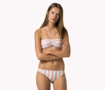 Gestreifter Bandeau-bikini