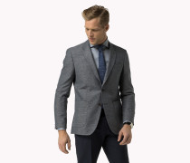 Taillierter Blazer Aus Leinen Und Wolle