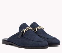 Denim Slip-On Loafers