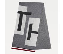 Schal mit Tommy-Tape und gewebtem Logo