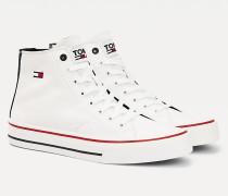 Mid-Top Sneaker aus Baumwolle