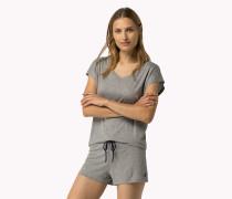 T-shirt Aus Stretch-modal Mit V-ausschnitt