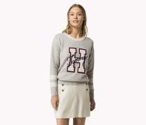 Logo-sweater Aus Woll-kaschmir-mix