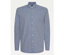 TH Flex Slim Fit Hemd mit Vichy-Karos